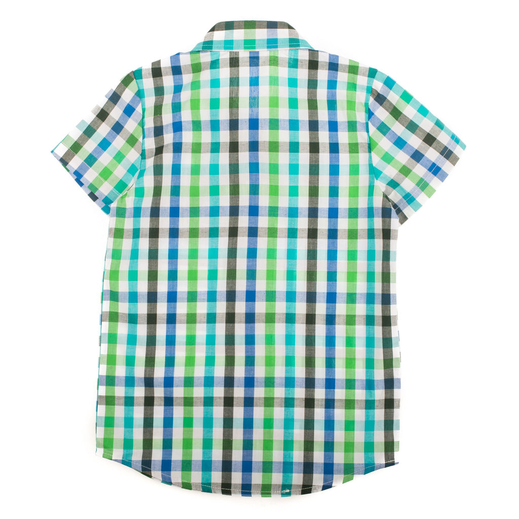 Blue and Green Easter Special Occasion Shirt