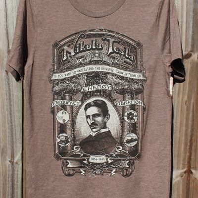 Nikola Tesla T-shirt  Handmade by Point 506