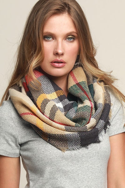 The plaid infinity scarf