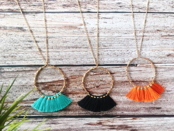 Tassel Necklace Party 🌿