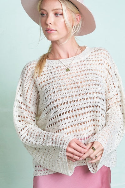 Ivory Crochet Knot Top