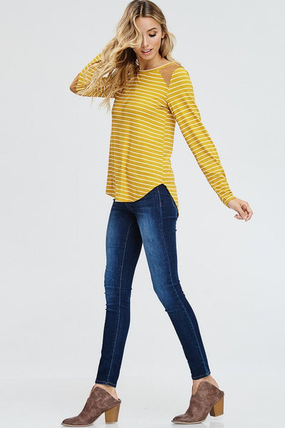Stripes & Patches - Mustard