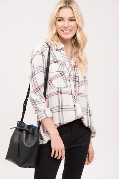 Spring Time Plaid Button Up