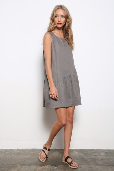 Linen Tiered Hem Dress!