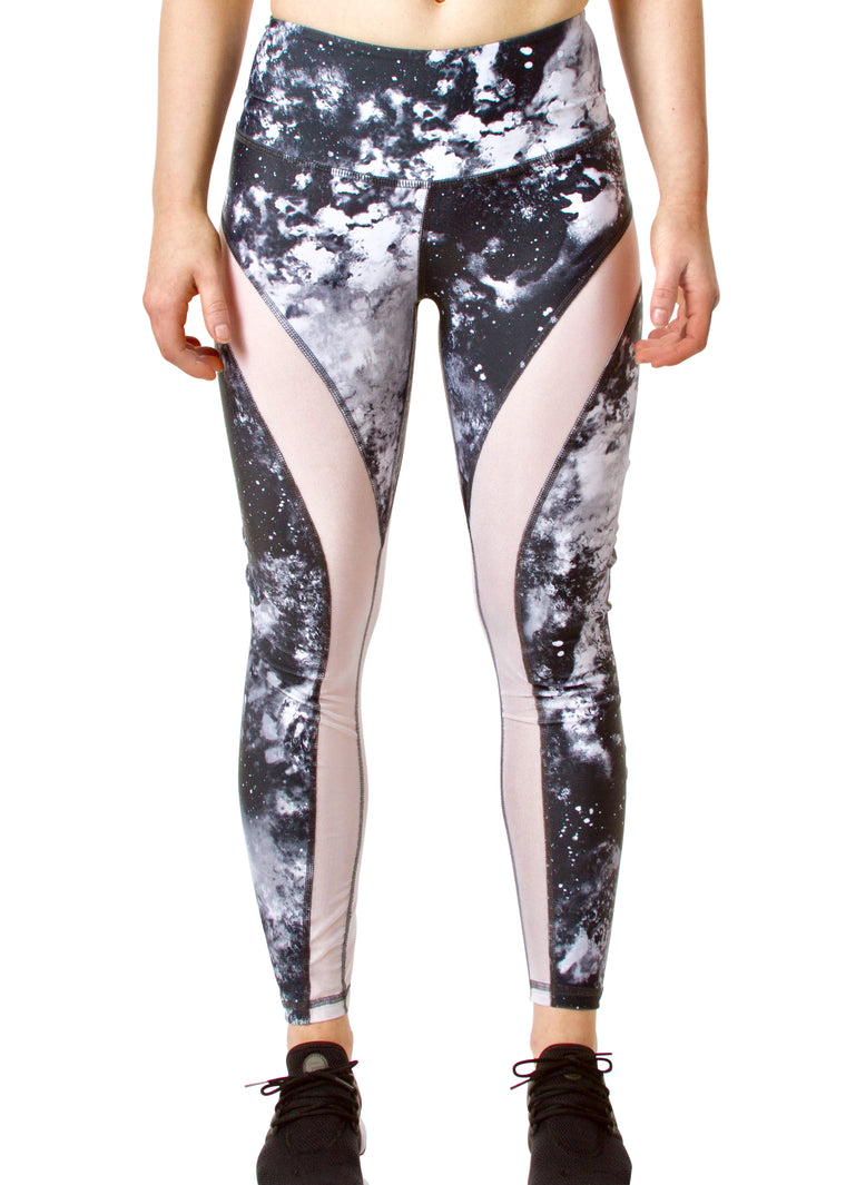 High Waist Mesh Legging - Marble