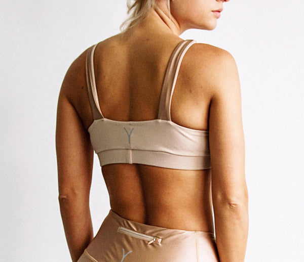 YV Sports bra athletic wear made in los angeles