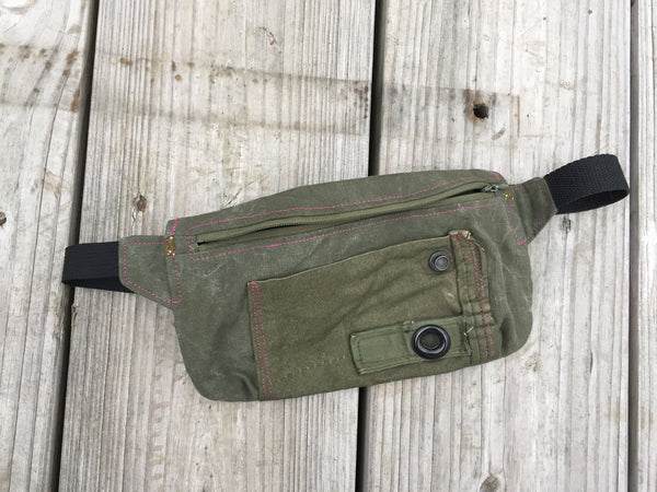 Repurposed Canvas Waist Bag