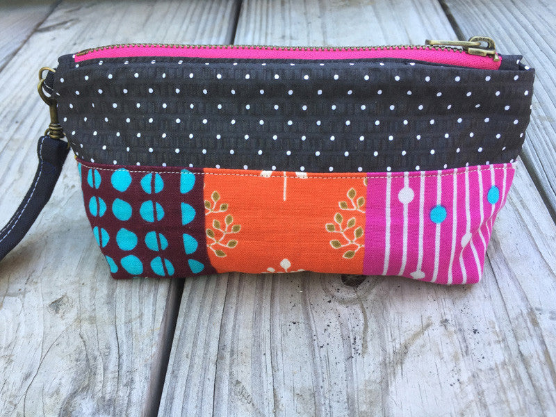 Patchwork Small Zippered Bag