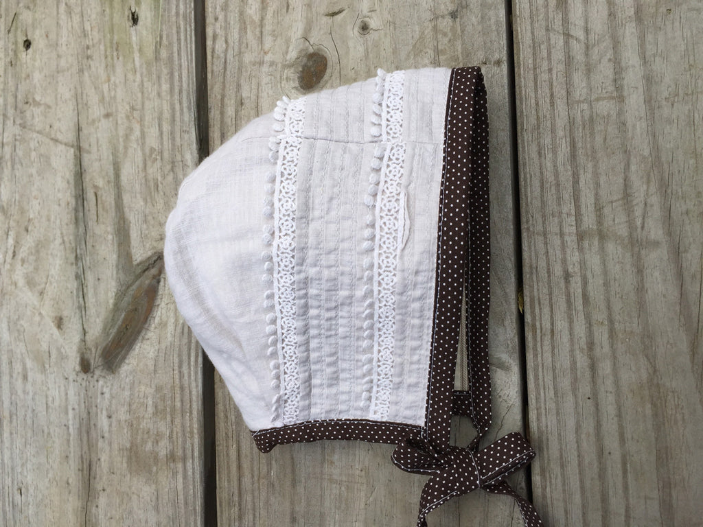 Cotton + Linen Lace Bonnet