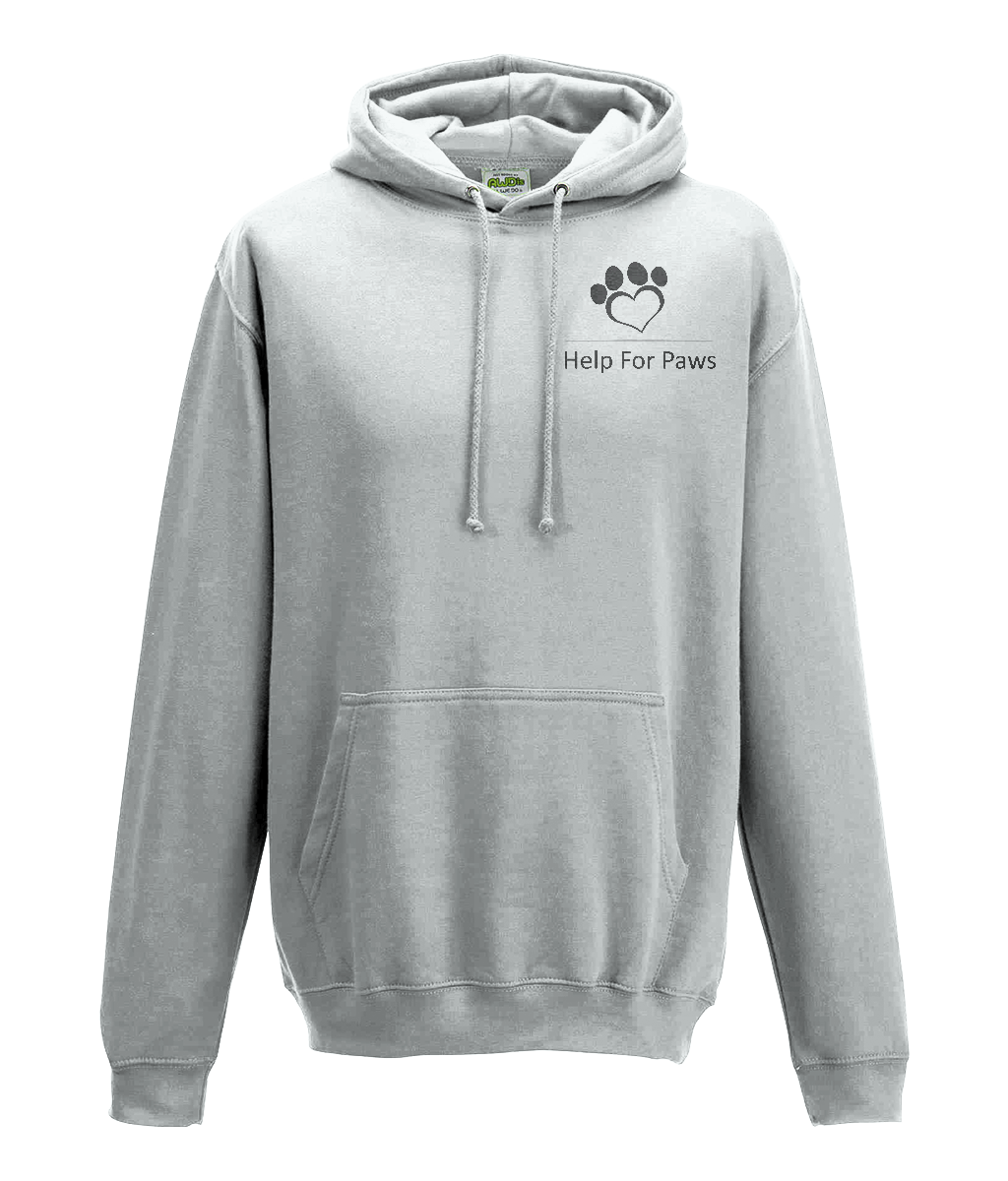 Help For Paws Ash Grey Hoodie