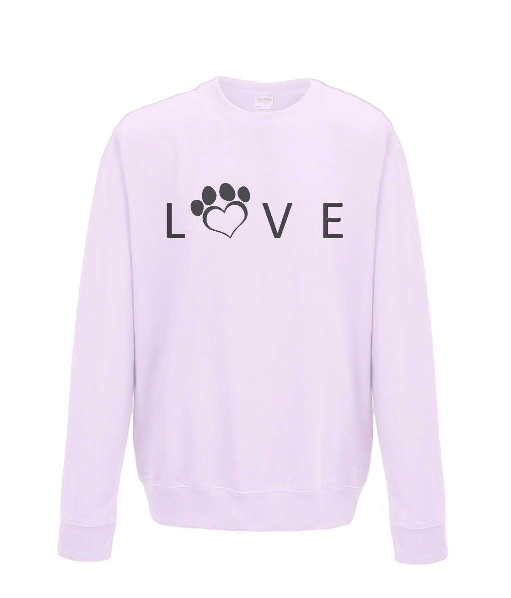 Help For Paws Love Sweatshirt - Black Logo