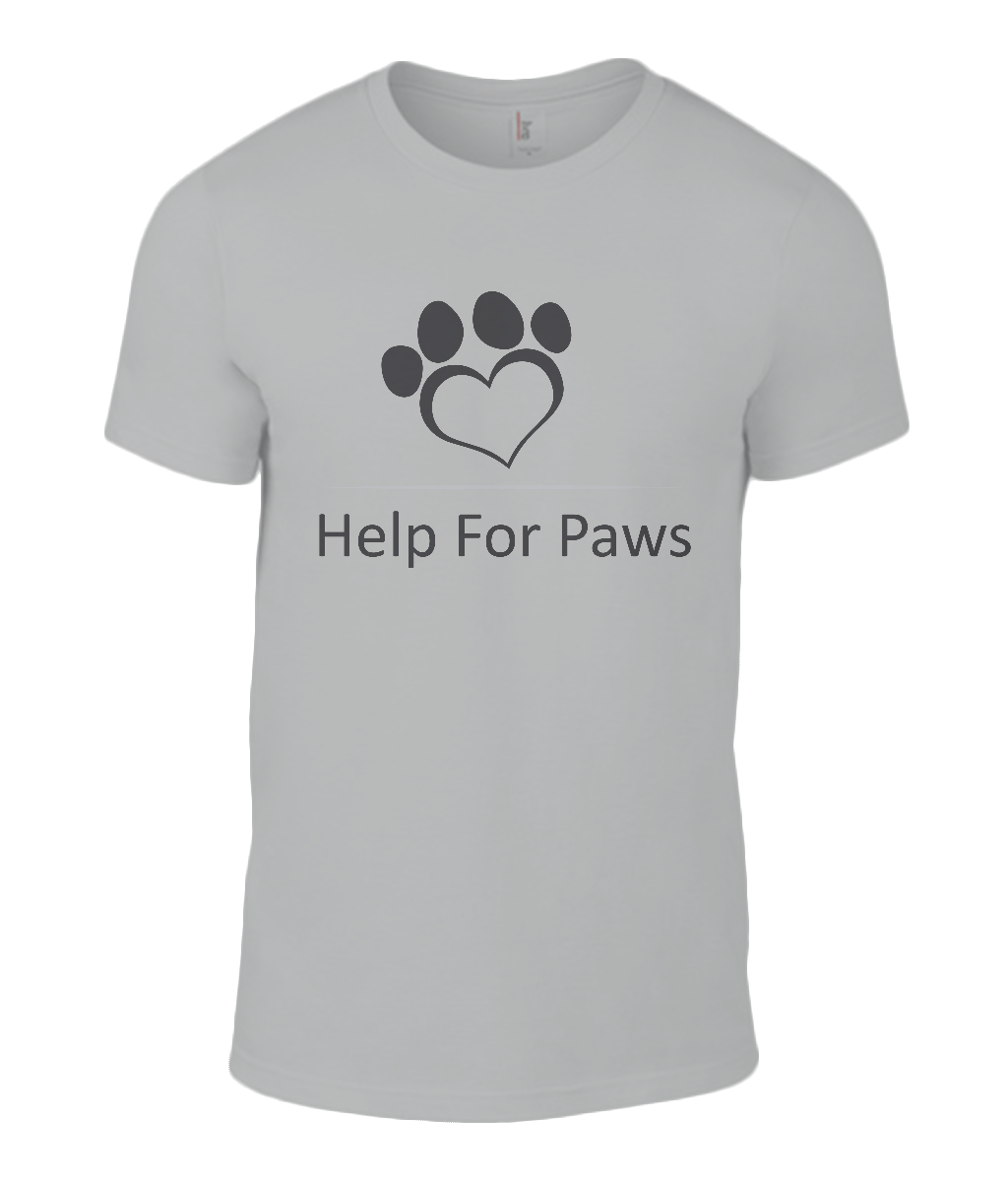Help For Paws Black Logo T-Shirt