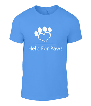 Help For Paws White Logo T-Shirt
