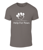Clothing - Help For Paws White Logo T-Shirt