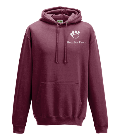 Suggested Products - Help For Paws Burgundy Hoodie
