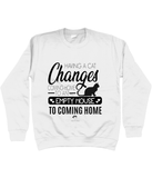 Clothing - Having A Cat Sweatshirt - Black Text