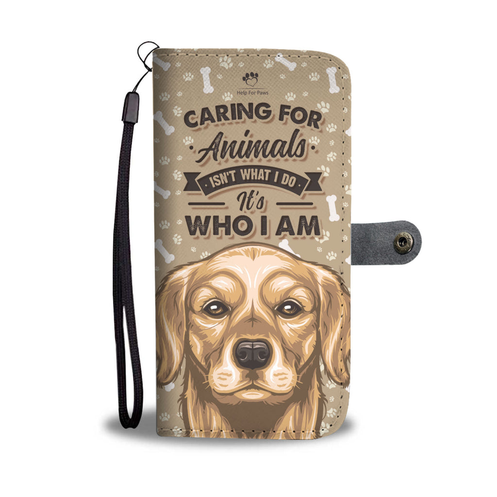 Wallet Case - Caring For Animals Phone Case - IPhone