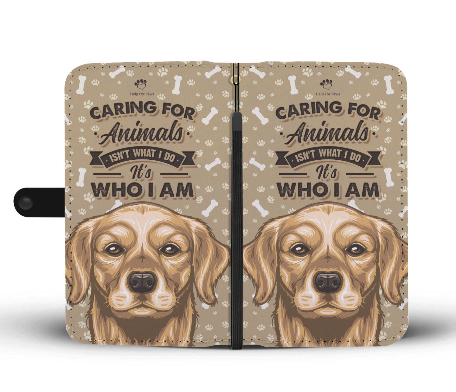 Wallet Case - Caring For Animals Phone Case - Samsung