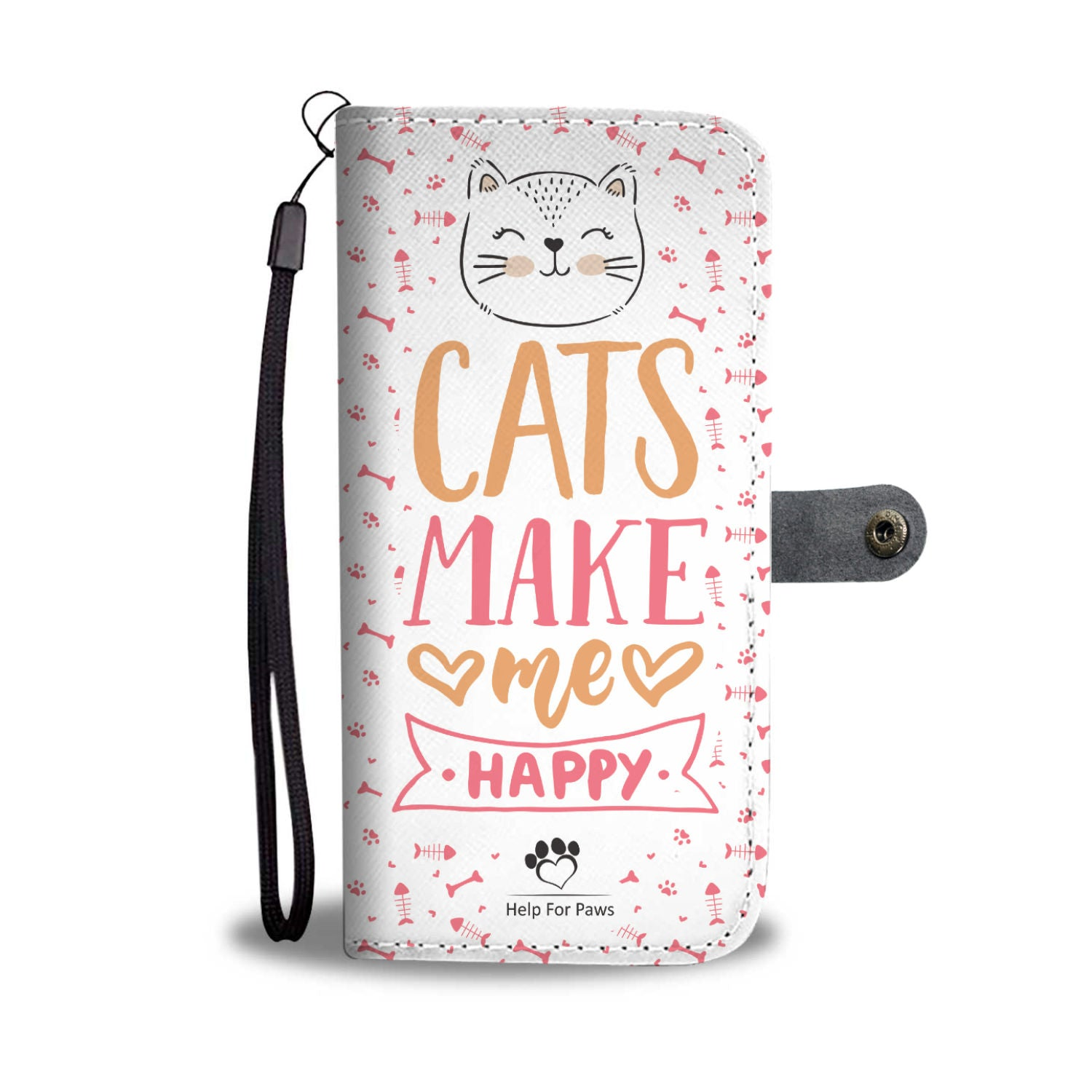 Wallet Case - Cats Make Me Happy Phone Case - Samsung