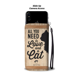 Love And A Cat Phone Case - iPhone