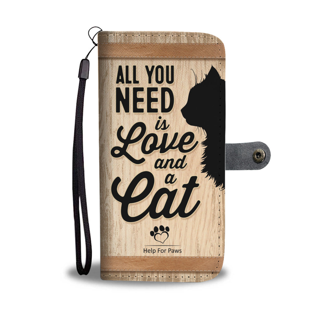 Wallet Case - Love And A Cat Phone Case - Samsung
