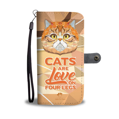 Wallet Case - Love On Four Legs Phone Case - LG