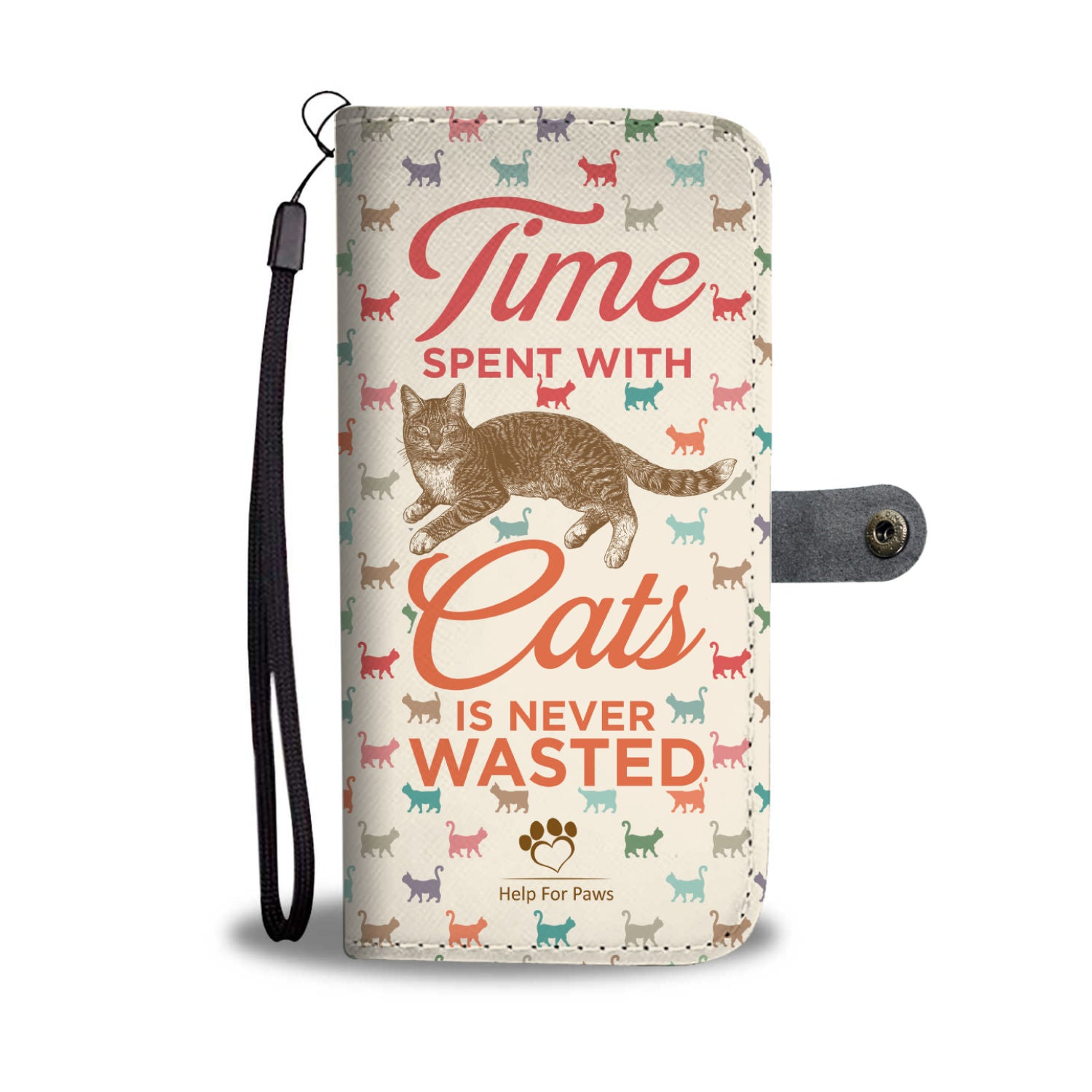 Wallet Case - Time With Cats Phone Case - LG