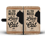 Wallet Case - Love And A Cat Phone Case - LG