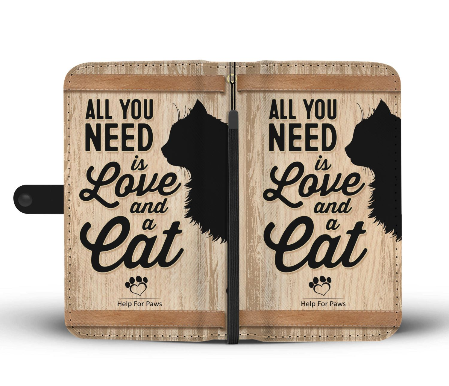 Wallet Case - Love And A Cat Phone Case - Google