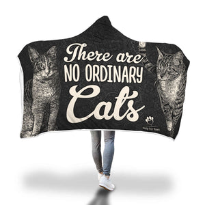 Hooded Blanket - No Ordinary Cats Hooded Blanket