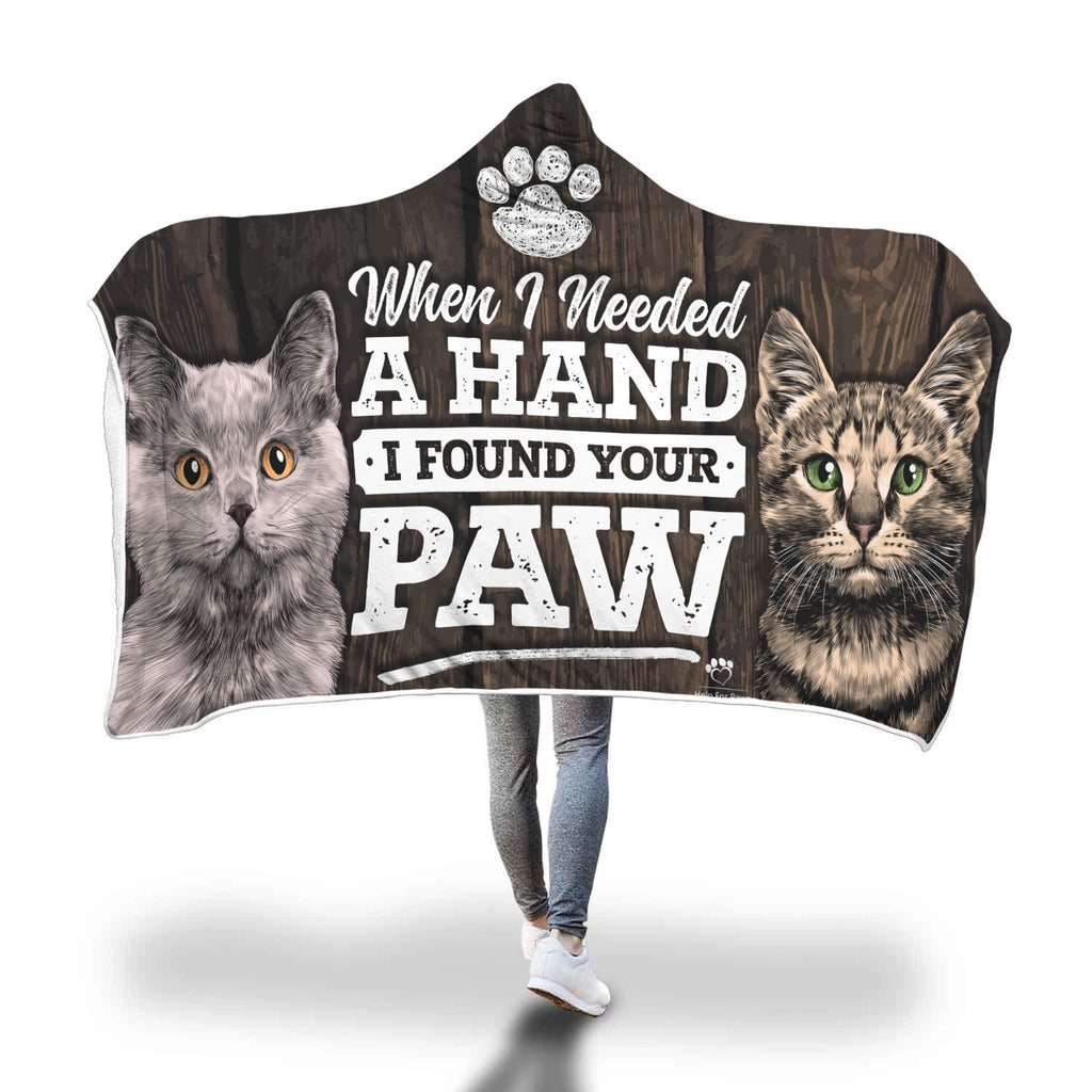 Hooded Blanket - I Found Your Paw Hooded Blanket