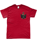 Burmese Cat in a Pocket T-Shirt - Mens