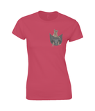Burmese Cat in a Pocket T-Shirt - Womens