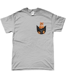 Ginger Cat in a Pocket T-Shirt - Mens