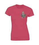 British Shorthair Cat in a Pocket T-Shirt - Womens