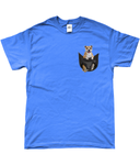 Staffordshire Bull Terrier in a Pocket T-Shirt - Mens