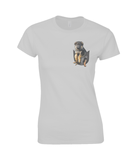 German Shepherd in a Pocket T-Shirt - Womens