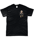 Golden Retriever in a Pocket T-Shirt - Mens