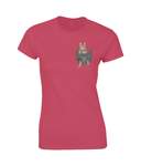 Tabby Cat in a Pocket T-Shirt - Womens