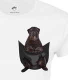 Dog / Cat In A Pocket T-Shirt - Womens