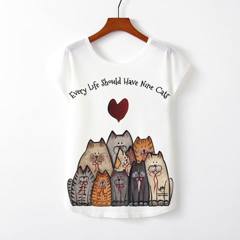 Nine Cats T-Shirt - Womens