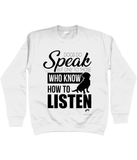 Clothing - Dogs Do Speak Sweatshirt - Black Text