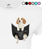 Beagle in a Pocket T-Shirt - Womens