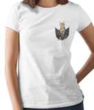 Bengal Cat in a Pocket T-Shirt - Womens