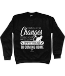 Clothing - Having A Cat Sweatshirt - White Text