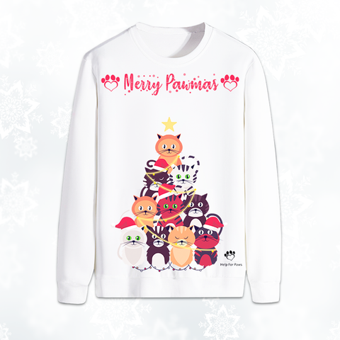 Merry Pawmas Cat Christmas Jumper