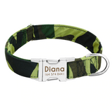 Camouflage Personalised Pet Collar