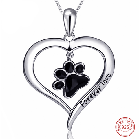 Necklace - Forever Love Paw 925 Silver Necklace