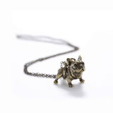 Necklace - French Bulldog Necklace - Gold