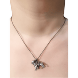 Necklace - French Bulldog Necklace - Silver